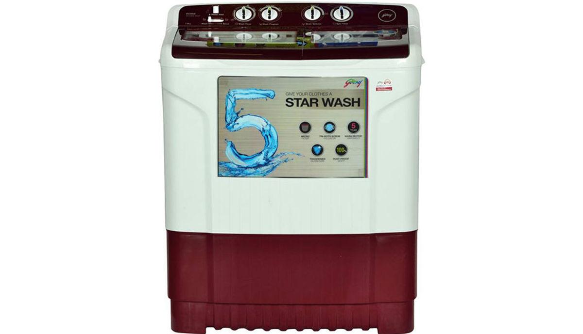 गोदरेज 7  Semi Automatic महत्त्वाचे Load Washing Machine Maroon (WS 700 CT)