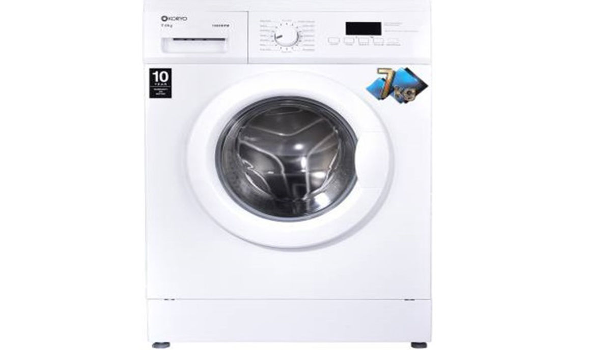 Koryo 8 kg Fully Automatic Front Load Washing Machine with In-built Heater White  (KWM1480FL)