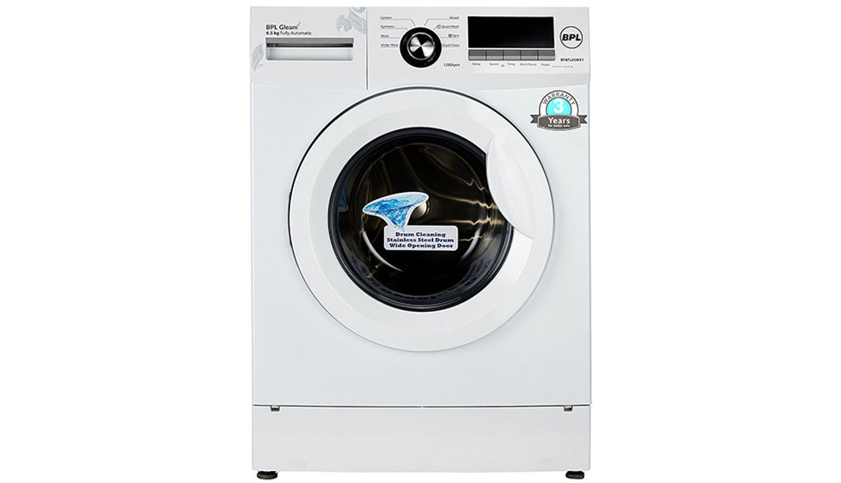 BPL 6.5  Fully-Automatic Front Loading Washing Machine (BFAFL65WX1, White)