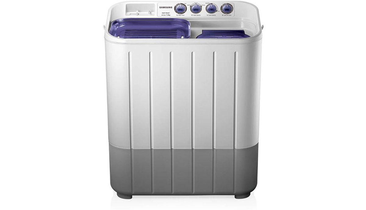 சேம்சங் 7.2  Semi Automatic மேலே Load Washing Machine White (WT725QPNDMPXTL)