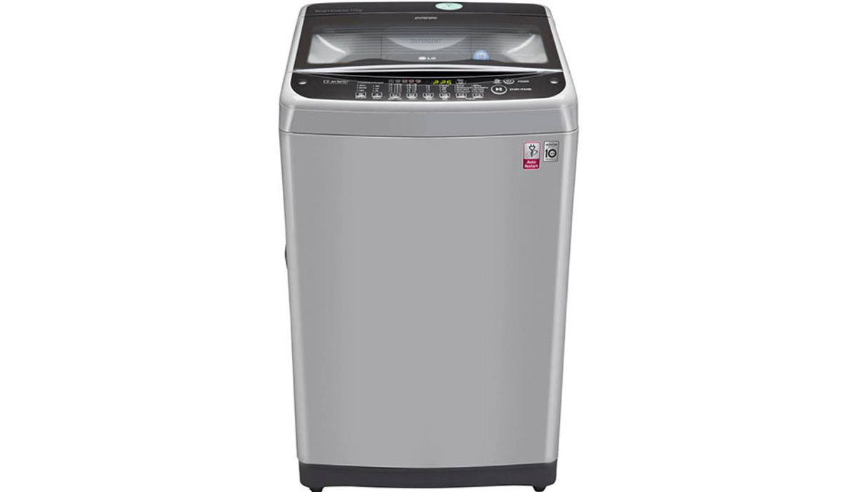 LG 10  Fully Automatic Top Load Washing Machine Silver (T2077NEDL1)
