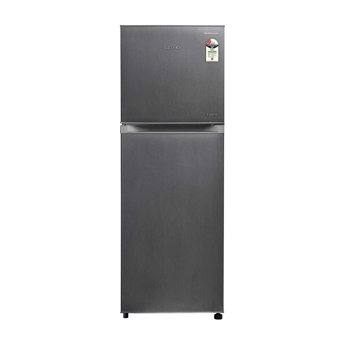 Lloyd 252 L 2 Star Inverter Double Door Refrigerator (GLFF262EDST1PB)