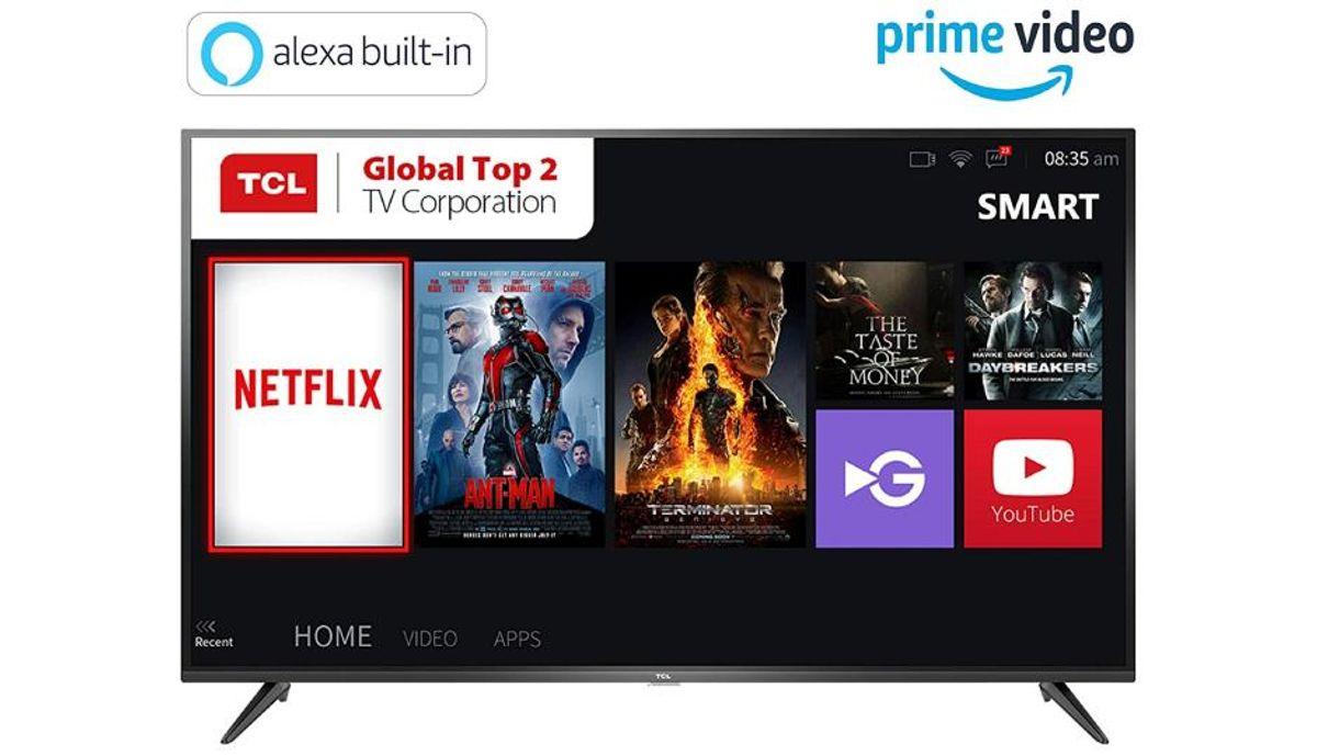 टीसीएल 55 इंच 4K Ultra HD Smart LED टीवी 55P65US-2019