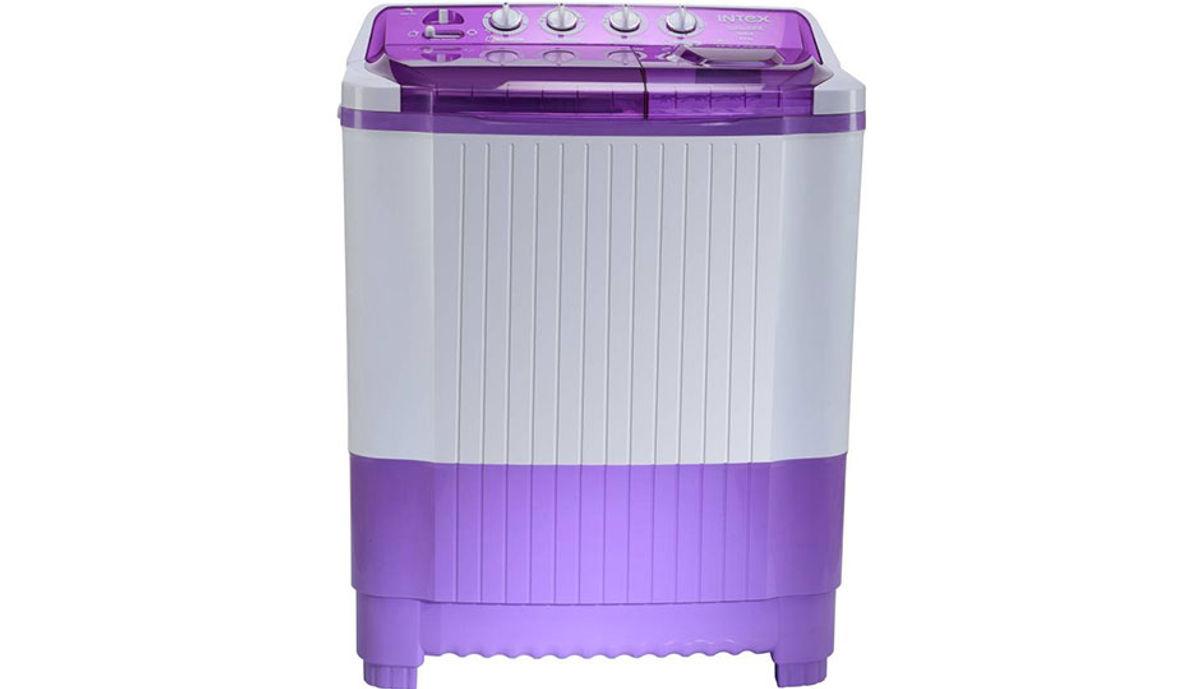 இன்ட்டெக்ஸ் 8.0  Semi Automatic மேலே Load Washing Machine White, Purple (WMSA80LV)