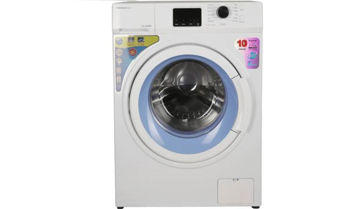 Lloyd 7 kg Fully Automatic Front Load Washing Machine with In-built Heater White  (LWMF70AW)