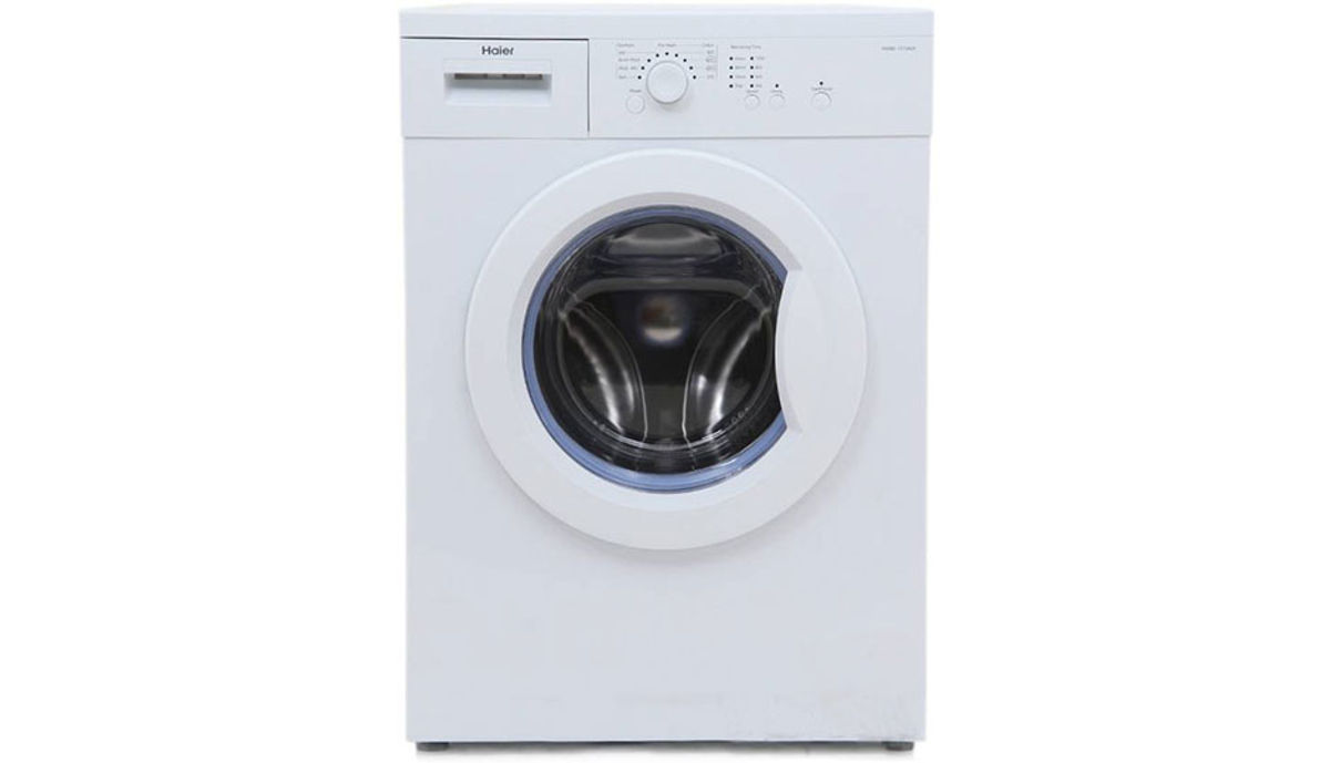 हैएर 6  Fully Automatic Front Load Washing Machine White (HW60-1010AS)
