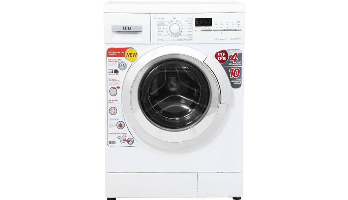 आयएफबी 7  Fully Automatic Front Load Washing Machine White (Elite Aqua VX)