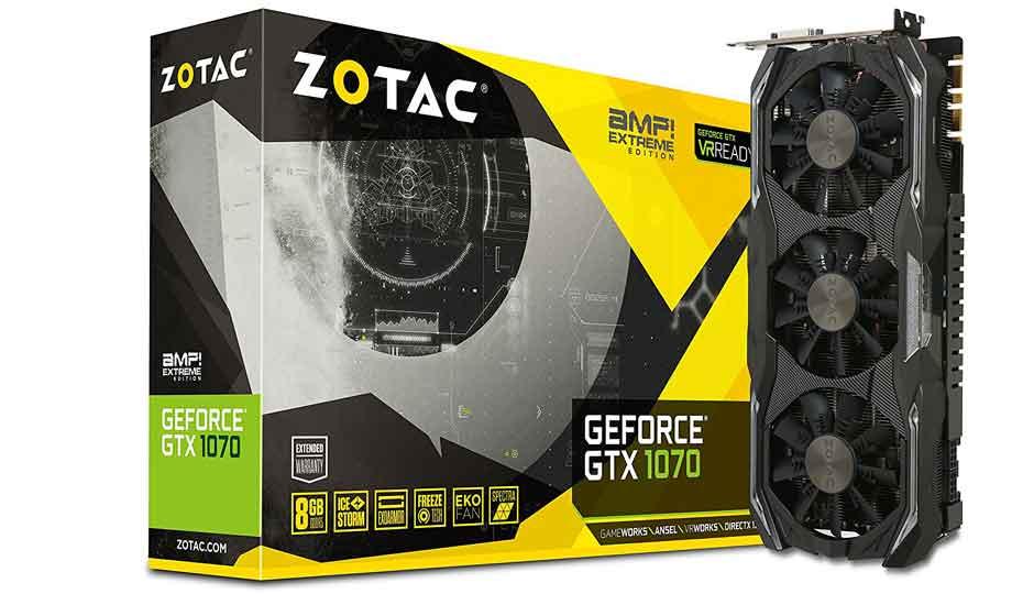 Compare ZOTAC GTX 1070 AMP! EXTREME Vs NVIDIA GeForce RTX