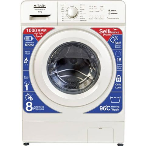 Mitashi 6 Fully Automatic Front Load Washing Machine White (WMFA600K100 FL)