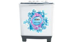 Mitashi 8.5  Semi Automatic Top Load Washing Machine White, Grey (MiSAWM85v25 AJD With Air Jet Dryer)