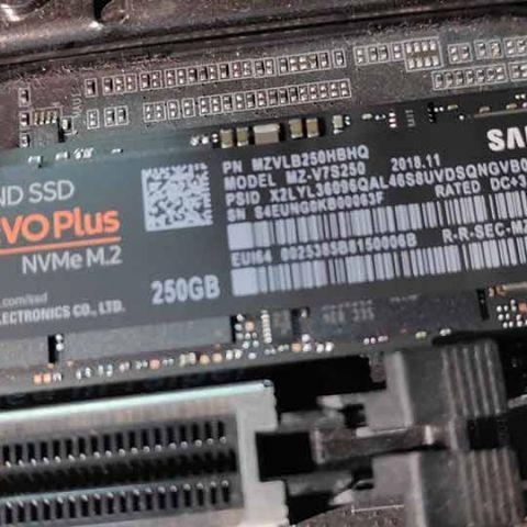 Samsung 970 EVO Plus NVMe M 2 SSD 250 GB