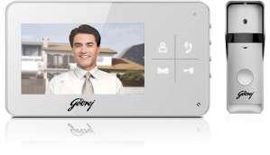 গোদরেজ Security Solutions Solus 4.3 Lite ভিডিও  Door Phone (Powdercoated Finish, 6-Pieces, White)